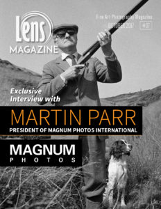 Photography Magazine Cover Image by Martin Parr on Lens Magazine Issue 37