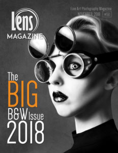 Photography Magazine Cover Image on Lens Magazine Issue 50. The Big Black and White Issue 2018