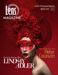 Lindsay Adler on Lens Magazine Issue 42 Cover Image . Inside the Studio.