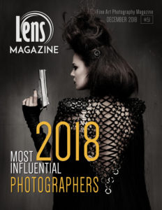 Photography Magazine Cover Image by Peter Coulson on Lens Magazine Issue 51. Most Influential Photographers 2018