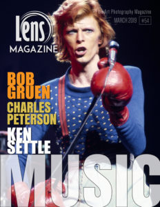 David Bowie by Bob Gruen on Lens Magazine Cover Image Issue Music in Photography