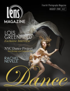 LOIS GREENFIELD on the cover of Lens Magazine Issue 47. Dance Photography.